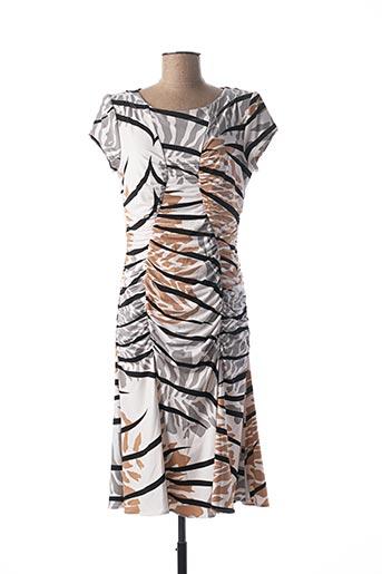 Robe mi-longue marron GEORGEDÉ pour femme