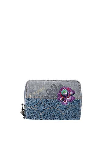 Portefeuille bleu DESIGUAL pour femme