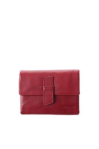 Porte-monnaie rouge HEXAGONA pour femme