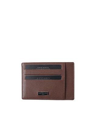Porte-carte marron AZZARO pour femme