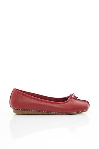 Chaussures de confort rouge CLARKS pour femme