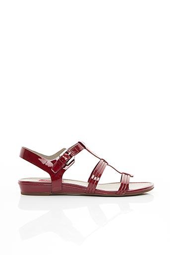 Sandales/Nu pieds rouge ECCO pour femme