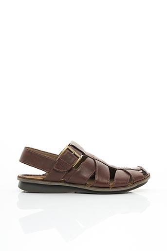 Sandales/Nu pieds marron CLARKS pour homme