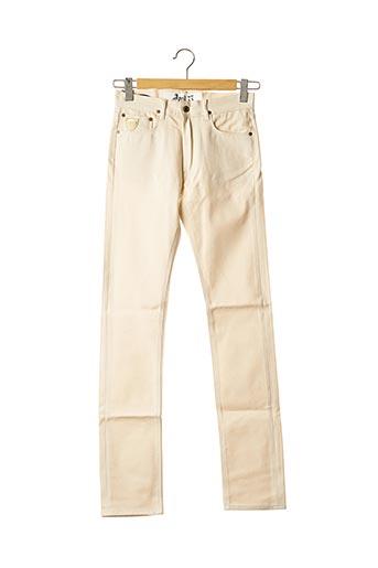 Jeans coupe slim beige APRIL 77 pour homme