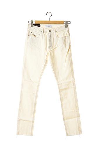 Jeans skinny beige APRIL 77 pour homme
