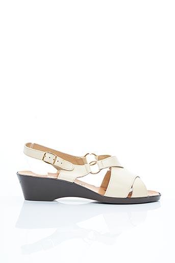 Sandales/Nu pieds beige ASTO pour femme