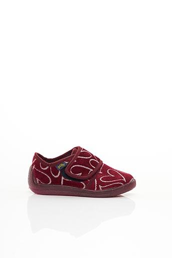 Chaussons/Pantoufles rouge BELLAMY pour fille