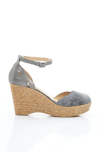 Sandales/Nu pieds gris AXELL pour femme