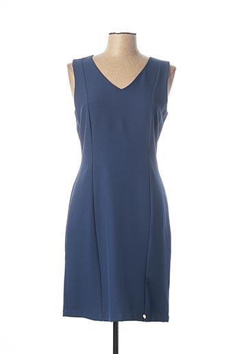 Robe mi-longue bleu PAUL BRIAL pour femme
