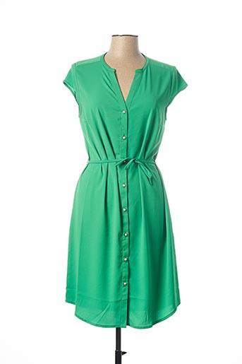 Robe mi-longue vert FELINO pour femme