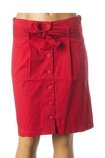 Jupe mi-longue rouge KANOPE pour femme