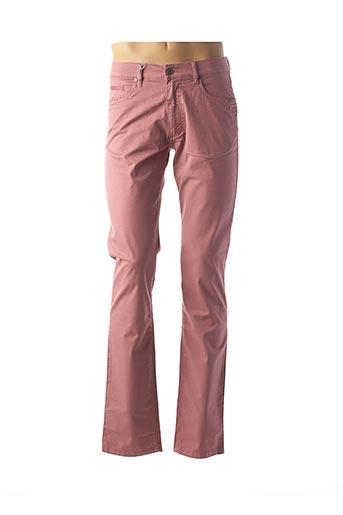 Pantalon casual rose BRUNO SAINT HILAIRE pour homme