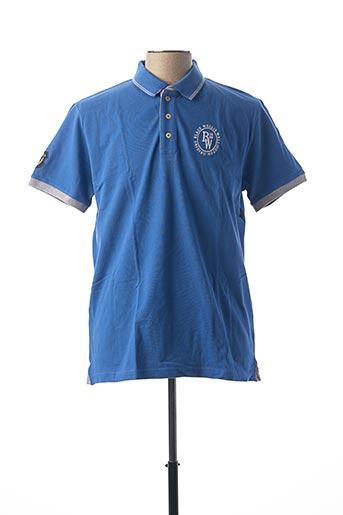 Polo manches courtes bleu BLACK WELLIS pour homme