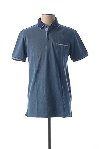 Polo manches courtes bleu FORECAST pour homme