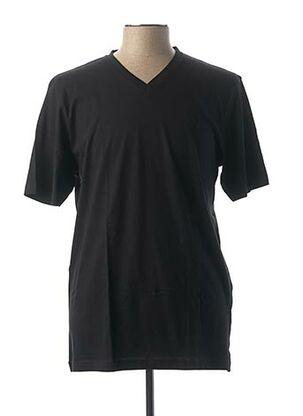T-shirt manches courtes noir MARVELIS pour homme