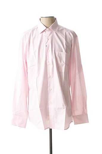 Chemise manches longues rose BELLONI pour homme