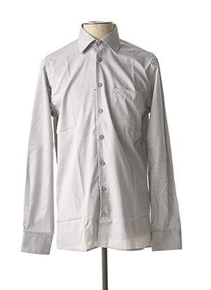 Chemise manches longues gris JUPITER pour homme