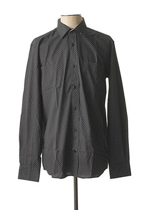 Chemise manches longues noir BELLONI pour homme