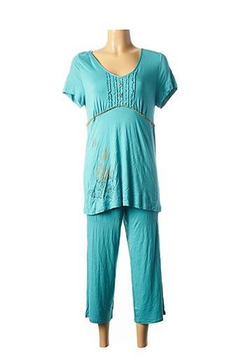 Pyjama bleu EGATEX pour femme