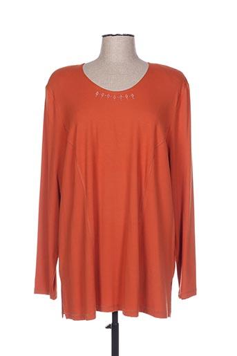 T-shirt manches longues orange MONA LISA pour femme