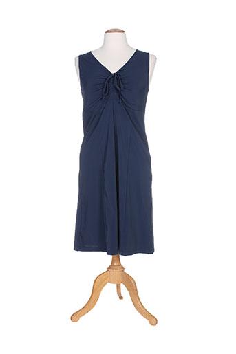 Robe mi-longue bleu G!OZE pour femme