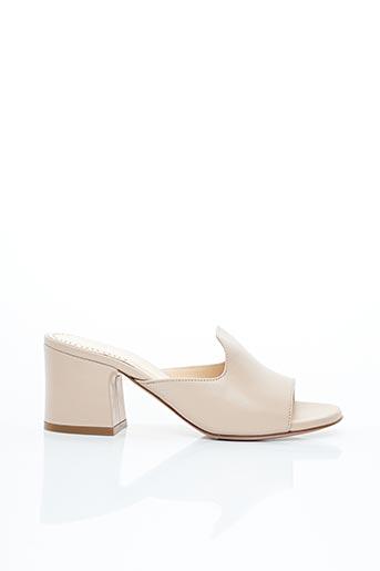 Mules/Sabots beige EVALUNA pour femme