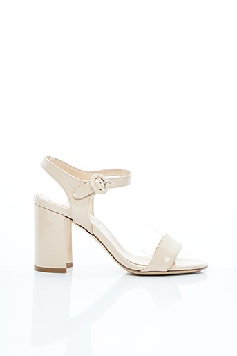 Sandales/Nu pieds beige EVALUNA pour femme