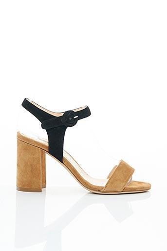 Sandales/Nu pieds marron EVALUNA pour femme