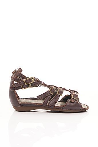 Sandales/Nu pieds marron PALLADIUM pour fille