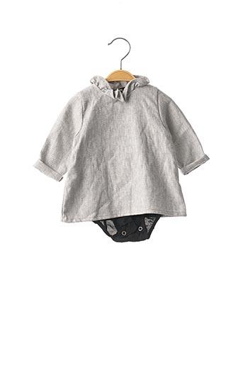 Body gris VIOLETA E FEDERICO pour enfant