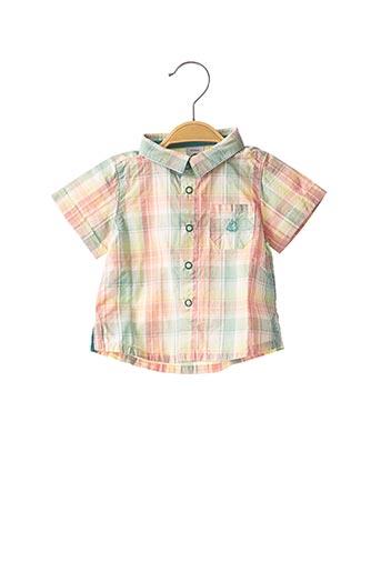 Chemise manches courtes vert PETIT BATEAU pour garçon