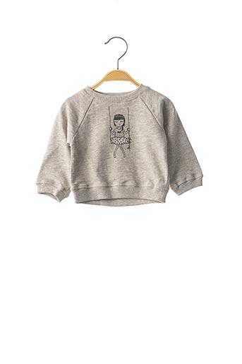 Sweat-shirt gris LOUIS*LOUISE pour fille