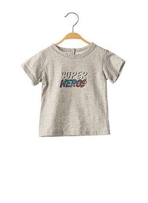 T-shirt manches courtes gris LOUIS*LOUISE pour garçon