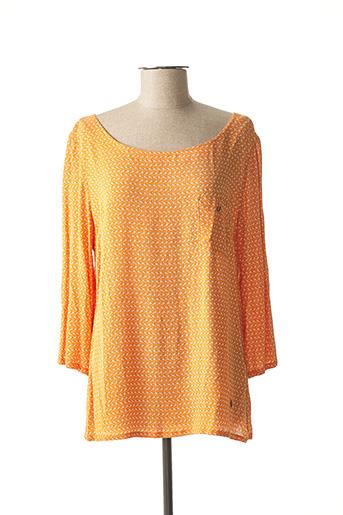 Blouse manches longues orange VOODOO pour femme