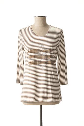 T-shirt manches longues marron BRANDTEX pour femme