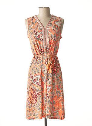Robe mi-longue orange JULIE GUERLANDE pour femme