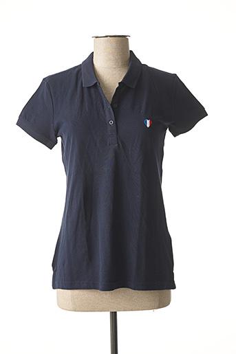 Polo manches courtes bleu TEDDY SMITH pour femme