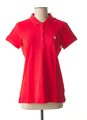 Polo manches courtes rouge TEDDY SMITH pour femme