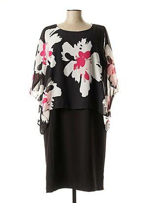 Robe mi-longue noir BRANDTEX pour femme