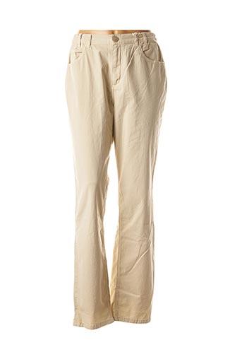 Pantalon casual beige TBS pour femme