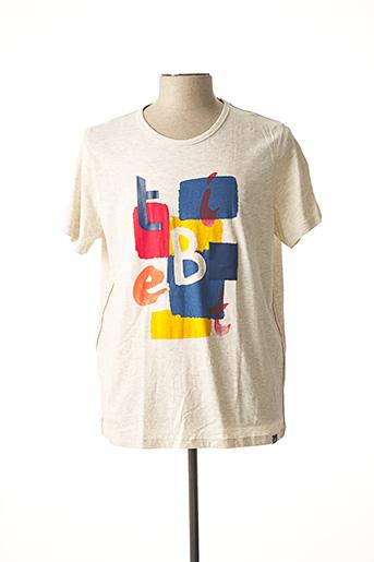 T-shirt manches courtes beige TIBET pour homme