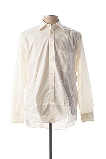 Chemise manches longues blanc CAMBRIDGE pour homme