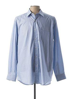 Chemise manches longues bleu HAROLD pour homme