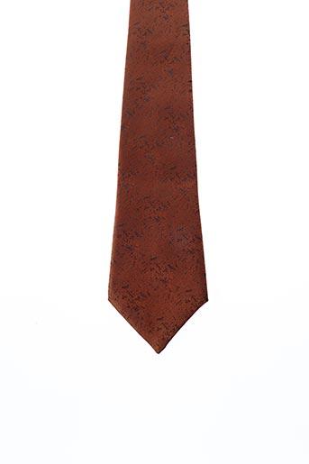 Cravate marron CRAVATE DE PRESTIGE pour homme