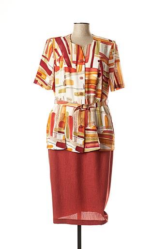 Veste/robe orange REGINE pour femme