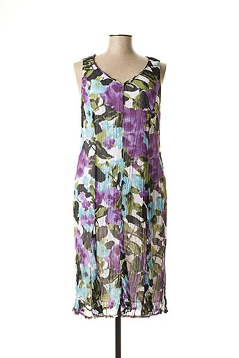 Robe mi-longue violet FRANK WALDER pour femme