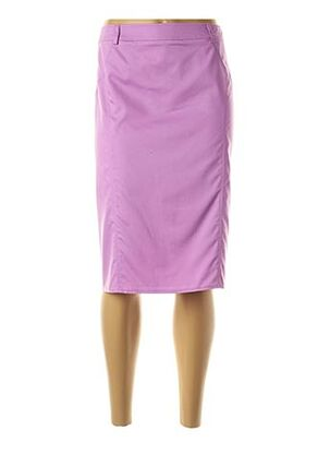 Jupe mi-longue violet FRANK WALDER pour femme