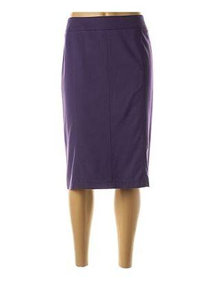 Jupe mi-longue violet LEBEK pour femme