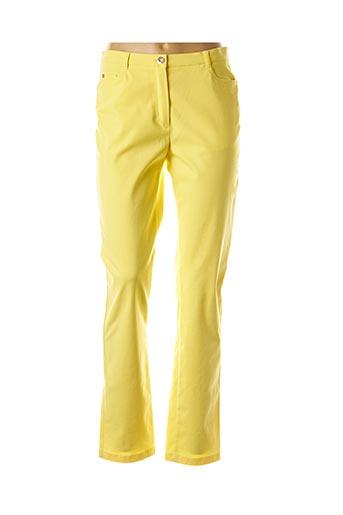 Pantalon casual jaune WEINBERG pour femme