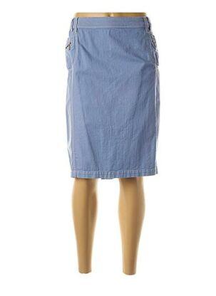 Jupe mi-longue bleu ANNE KELLY pour femme